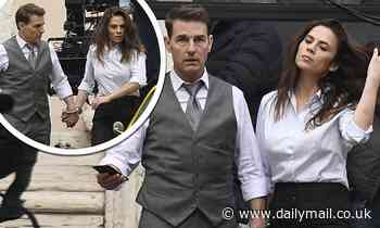 Tom Cruise and Mission: Impossible 7 co-star Hayley Atwell handcuffed together to shoot tense scene