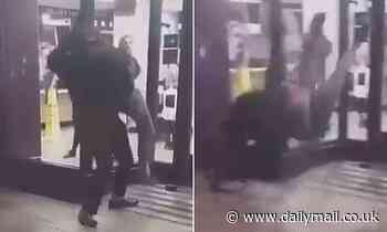McDonald's bouncer body-slams man to the ground in Belfast