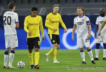 Haaland hits 2 as Dortmund beats Brugge in Champions League