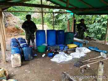 Ejército destruyó en Nóvita, Chocó, laboratorio de droga que le dejaba más de 200 millones de pesos mensuales al ELN - Diario La Libertad