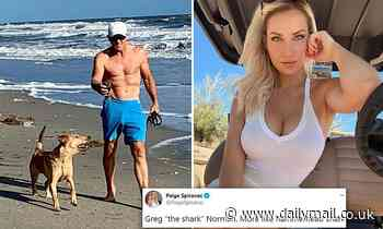 Hot female golfer Paige Spiranac weighs in on THAT jaw-dropping picture of Greg Norman, 65, at beach