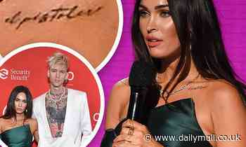 Megan Fox appears to have a tattoo in tribute to boyfriend Machine Gun Kelly