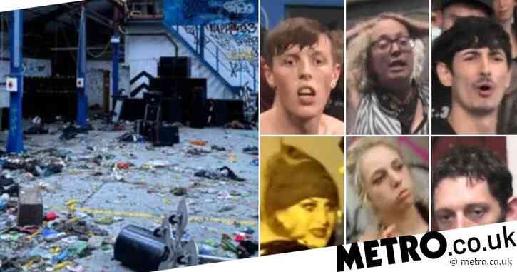 Hunt for ravers after police pelted with bottles at warehouse event