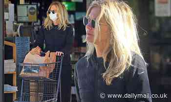 Meg Ryan masks up for grocery run in Santa Monica as coronavirus cases continue to climb