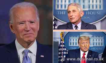 Joe Biden says he is about to get the presidential daily brief and his staff are talking Dr. Fauci