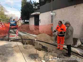Chieti, Via Arenazze: lavori per ripristinare la rete di gas [FOTO] - Abruzzonews