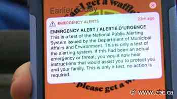Get ready, Canada: Another test of emergency public alert system is coming to a screen or device near you