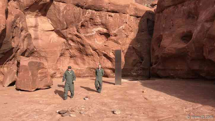 'Alien super weapon? Xbox prototype?' Internet sleuths uncover coordinates of 'Utah monolith' as netizens debate origin & purpose