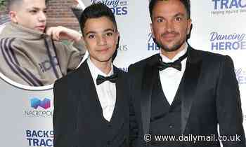 Peter Andre says son Junior isn't 'too happy' as he self-isolates after COVID school outbreak