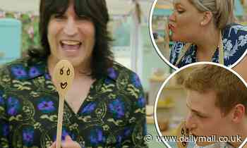 Great British Bake Off: Noel Fielding divides fans after he gets finalists to kiss wooden spoon