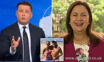 Hilarious moment Karl Stefanovic apologises to Anastasia Palaszczuk for wife's drunken call