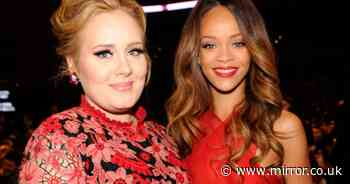 Rihanna says pal Adele is 'confident and happy' after jaw-dropping 7-stone weight loss - Mirror Online