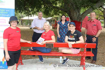 Red Bench unveiled to stand against domestic violence - Bundaberg Now