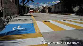 Pavimentación mixta transforma la vida de colonos de Santa Barbara - Quadratín Chiapas