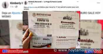 ¡Aguas! Ofrecen Tarjetas de Bienestar por Facebook… y sin buró de crédito - Hoy Tamaulipas