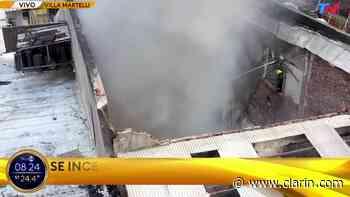 Video: Impresionante incendio en Villa Martelli - Clarín.com