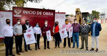Encabezan Lupita Daniel y Luis Alberto Arriaga arranque de obra de la Calle Tlaxcala - Intolerancia Diario