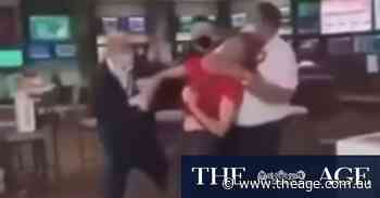 Patron filmed unconscious, held around neck as guard evicts him from hotel