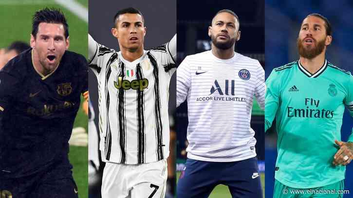 Cristiano, Messi, Neymar, Ramos y Thiago Alcántara entre los nominados a The Best