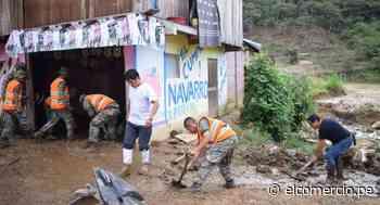 Junín: entregan ayuda humanitaria a damnificados por deslizamiento en Perené - El Comercio - Perú