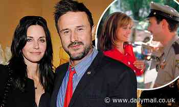 David Arquette says it's been 'great' to work with ex-wife Courteney Cox