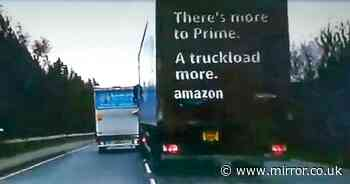 Amazon lorry driver 'tries to ram into truck' in 'road rage motorway attack'