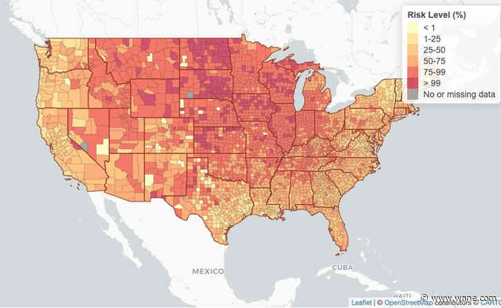 Interactive map: County-by-county COVID risk assessment heading into Thanksgiving