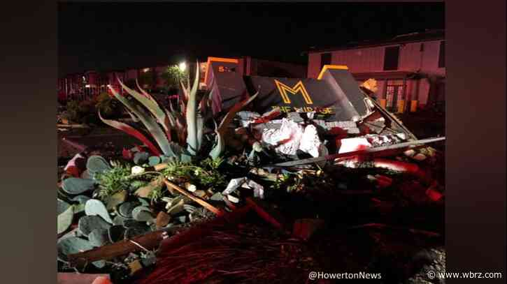Multiple buildings in north Texas collapse as severe weather devastates the region
