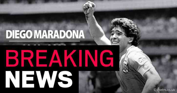 Diego Maradona dead aged 60 after cardiac arrest