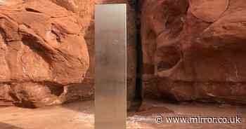 Mystery as strange metal monolith found out in desert by sheep counters
