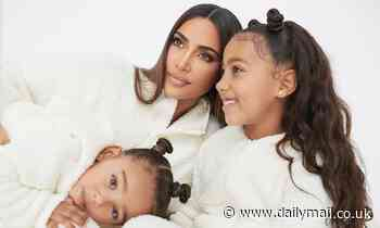 Kim Kardashian and daughters North, seven, and Chicago, two, don matching SKIMS outfits