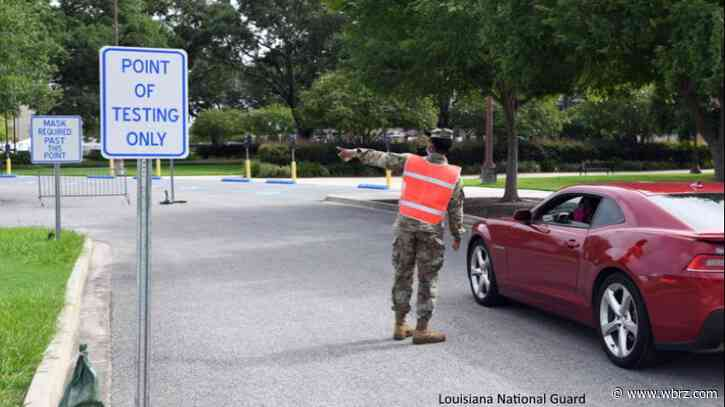 Louisiana National Guard COVID testing sites to close for Thanksgiving holidays