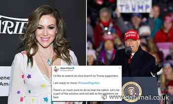 Alyssa Milano slammed for extending an 'olive branch' to President Trump's supporters