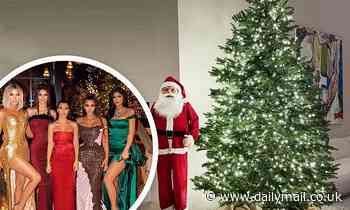Kourtney Kardashian shows off her elegant Christmas decorations