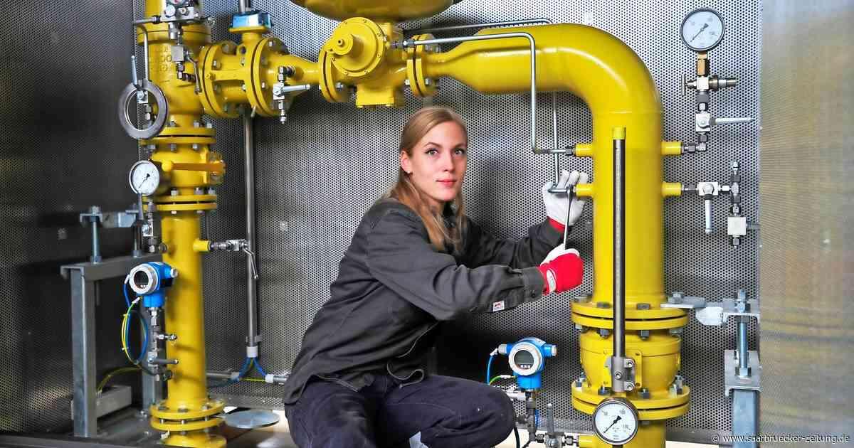 Landesbeste : Jessica Zimmer aus Marpingen lernt in Bexbach Anlagenmechanikerin - Saarbrücker Zeitung