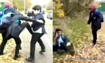 Police launch race hate probe into video showing boys attacking Sikh pupil