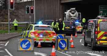 Pedestrian suffers life-threatening injuries after crash involving truck in Sunbury - Surrey Live