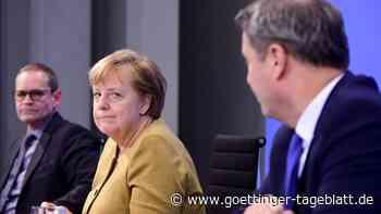 Wenn Merkel nach Worten sucht und Söder die Harmonie