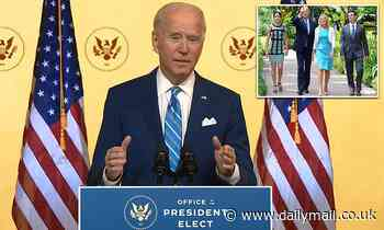Joe Biden makes upbeat Thanksgiving address to the nation
