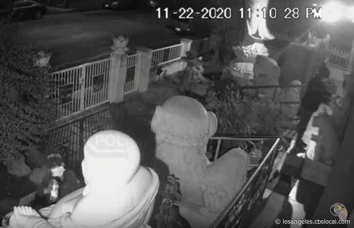 Caught On Video: 2 Women Wanted For Vandalizing Statues At Buddhist Temple In Santa Ana