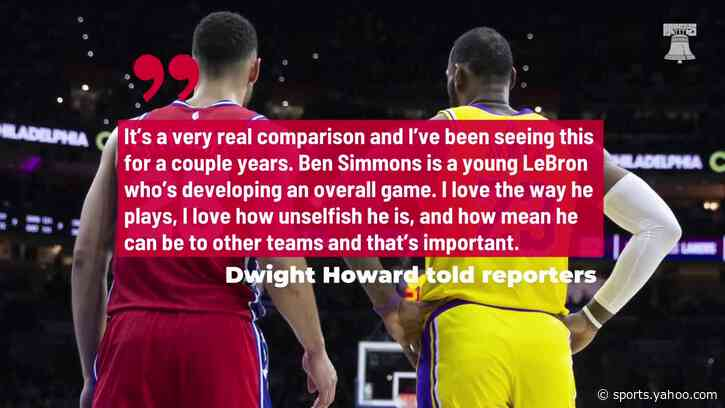 Dwight Howard says Ben Simmons-LeBron James comparisons 'very real'