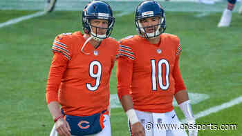 Bears' Matt Nagy impressed with Mitchell Trubisky's growth as Nick Foles sits out practice with injury