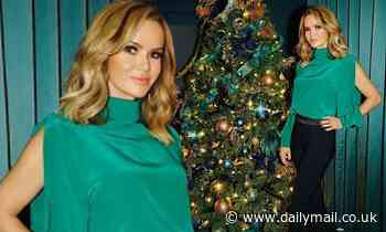Amanda Holden exudes glamour in a £645 green top and trousers ahead of single release
