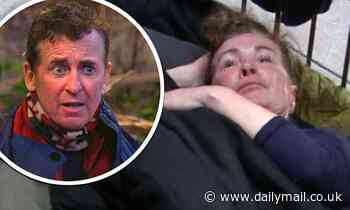 Beverley Callard as her snoring and growling keeps her I'm A Celeb campmates up