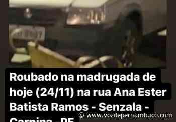 Veículo foi furtado na madrugada desta terça (24), em Carpina - Voz de Pernambuco