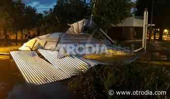La tormenta del martes pegó fuerte en El Trébol - Otro Día