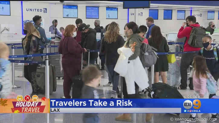 'Still Wanted To Enjoy The Holiday': Thousands Traveling Through LAX For Thanksgiving Plans Despite Surging COVID-19 Cases