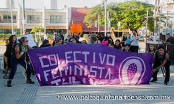 ¡Saldo blanco! en manifestación de mujeres en Tulum - Palco Quintanarroense