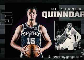 SPURS RE-SIGN QUINNDARY WEATHERSPOON TO TWO-WAY CONTRACT