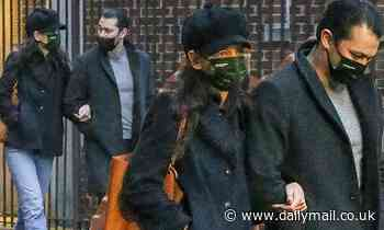 Katie Holmes cozies up to boyfriend Emilio Vitolo Jr in autumn chic look for romantic stroll in NYC